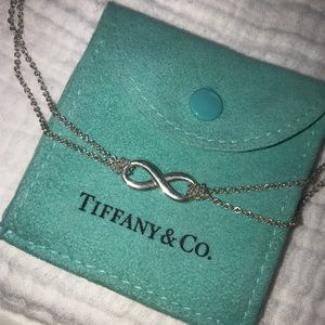Tiffany and Co Infinity double chain necklace